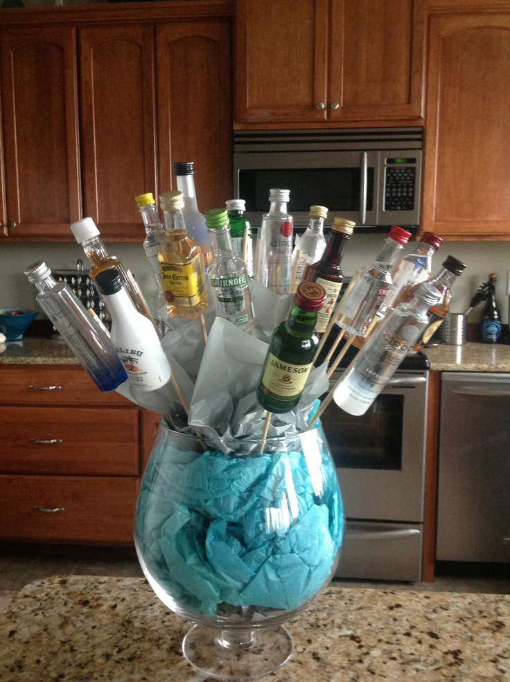 """21st Birthday Bouquet!!! Made for my """"other"""" son"""