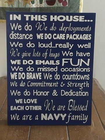 In This House...military version NAVY Family by WordArtTreasures, $24.99