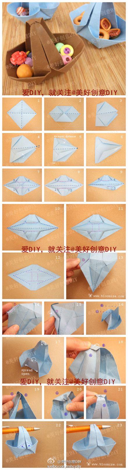 canasta de origami/ origami basket