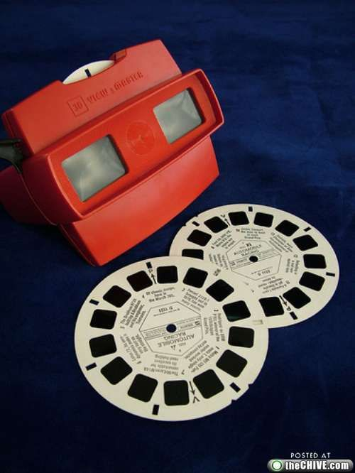 "View finder-- I loved getting new slides for my View Finder!!!  LOVED it when they came out w/ ""3D"" slides!!!"