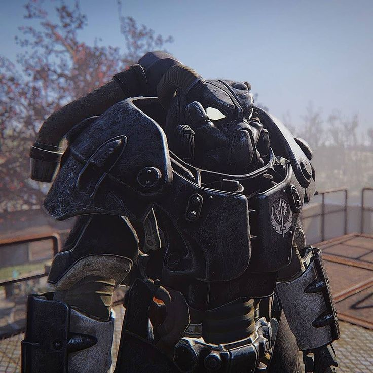 X-01 Power Armor ready to teleport! #fallout #fallout4 #gaming #powerarmor #enclave #enb #teleporter #institute