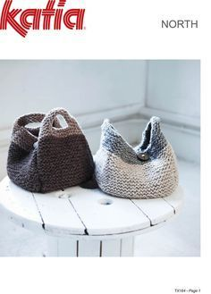 free knitting pattern at http://www.texyarns.com/north-handbags/