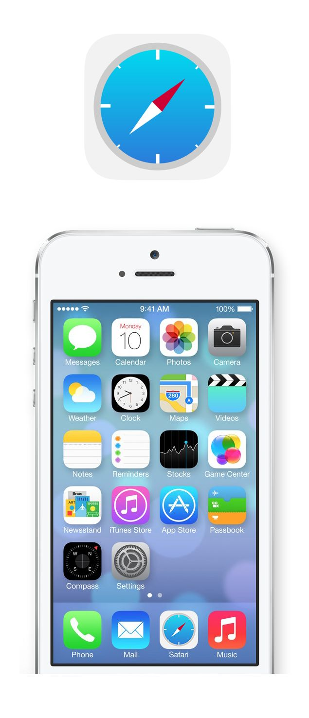 safari ios7 icon   #icon #safari #nikhil #ios7