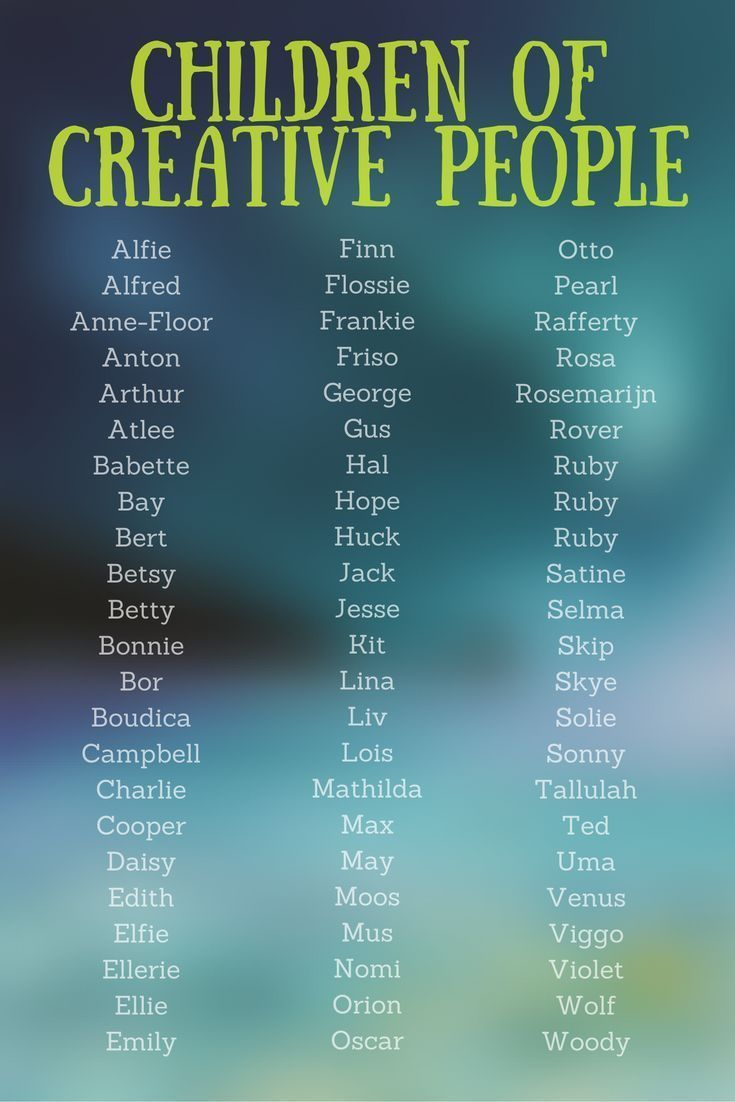 Baby Name Generator Baby Name Generator The Names Of Artists And