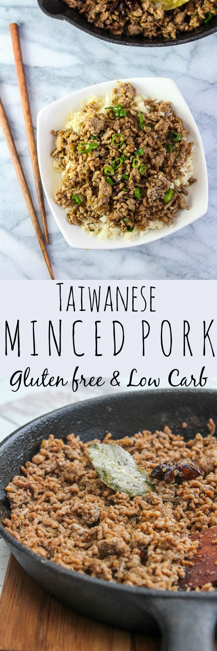 Taiwanese Minced Pork | Gluten Free & Low Carb with a Paleo option