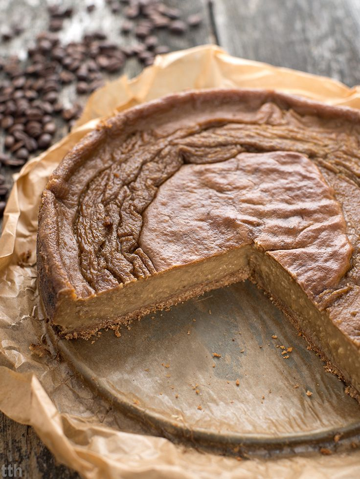 true taste hunters - kuchnia wegańska: Kawowy sernik jaglany (wegański, bezglutenowy, bez cukru)
