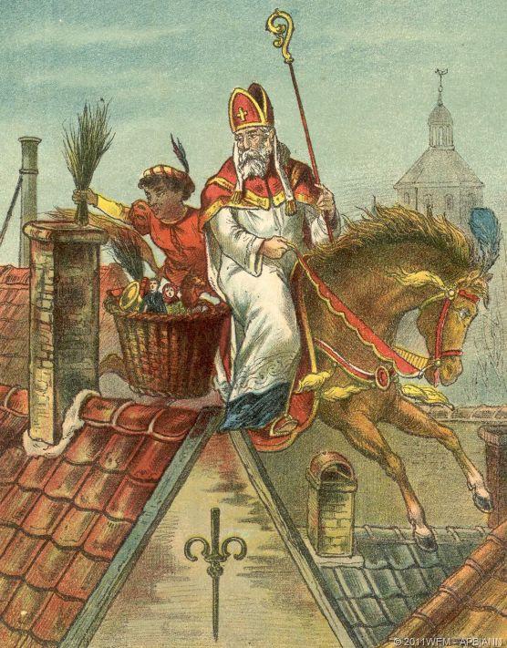 Saint Nicholas the annual ritual that teaches children to behave well.