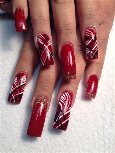 Classic Red by AlysNails - Nail Art Gallery nailartgallery.nailsmag.com by Nails Magazine www.nailsmag.com #nailart