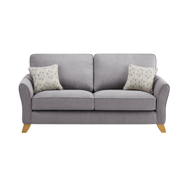 Finished in a gorgeous pewter tone, this Jasmine sofa seats three and has luxuriously deep seat cushions. Shop today!
