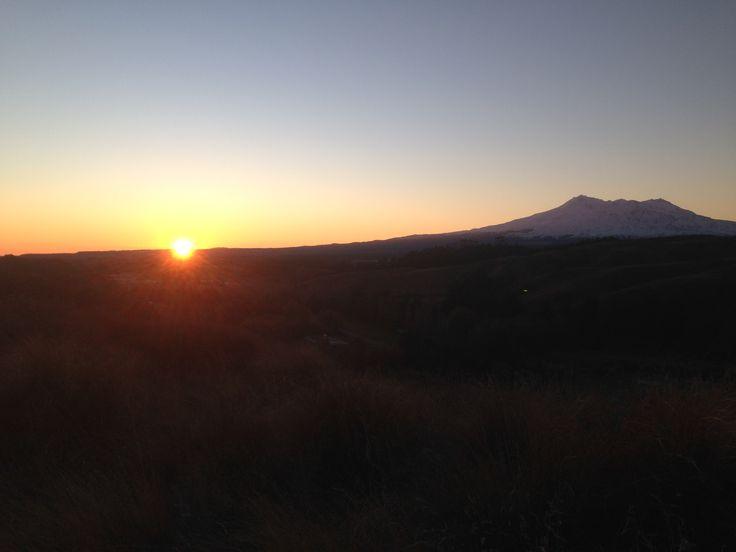 Outdoors Sunset Ruapehu New Zealand