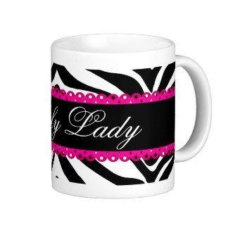 Zebra Print and Lace Mug