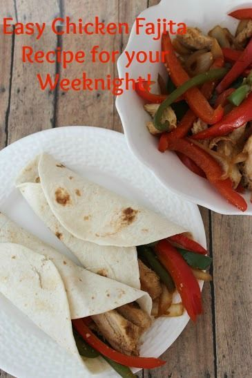 Looking for an Easy Chicken Fajita Recipe for your Weeknight? Look no further! take a look and see how you can make a batch of your own!