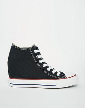 Converse - All Star Lux - Scarpe da ginnastica nere con zeppa