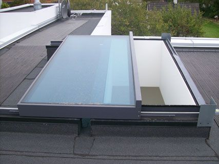 Glazing Vision Rooflights, Skylights and Glass Roofs- Sliding Over Roof Rooflights