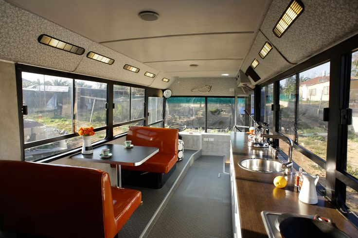 Two women converted this bus into a stylish modern home   -  To connect with us, and our community of people from Australia and around the world, learning how to live large in small places, visit us at www.Facebook.com/TinyHousesAustralia or at www.TinyHousesAustralia.com