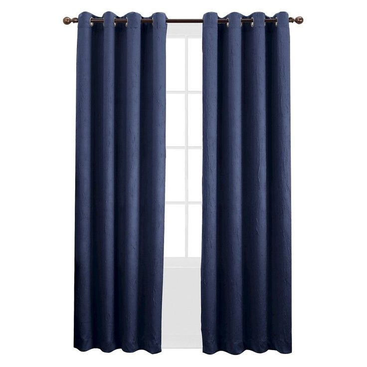 Sun Zero Gunther Crushed Room Darkening Curtain Panel 50  x 63  Indigo  Blue. 17 Best ideas about Room Darkening Curtains on Pinterest   Light