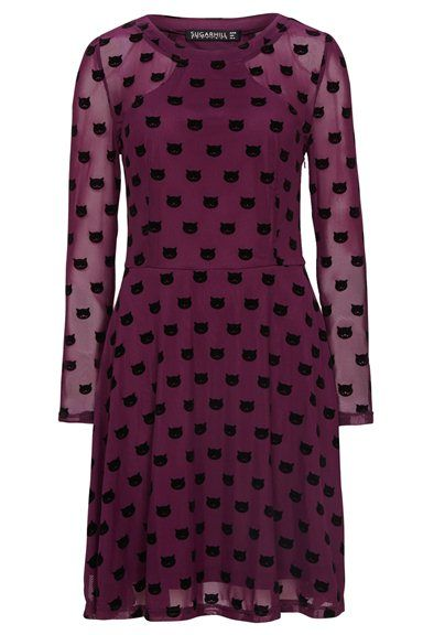AW14 Top Cat Dress - Mulberry - Sugarhill Boutique