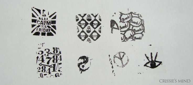 Born Pretty Store Stamping Keep Calm It's Friday | Punk Style Skull Patterns Nail Art Stamping Template Image Plate BORN PRETTY BP39