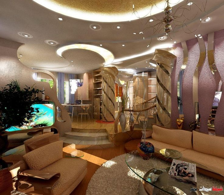 Beautiful Ceiling Interior Design With Modern Decorations Combined To Bring  Stylish Look