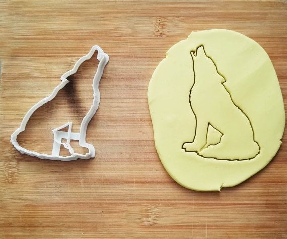 Wolf Cookie Cutter Made From Biodegradable Material / Brand New / Party Favor / Kids Birthday / Baby Shower / Cake Topper
