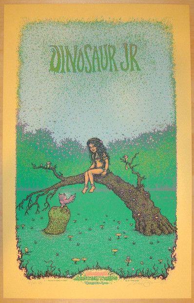 "Dinosaur Jr. - silkscreen concert poster (click image for more detail) Artist: Marq Spusta Venue: Mohawk Location: Austin, TX Concert Date: 10/4/2012 Size: 14"" x 22"" Edition: Artist Edition of 65, sig"