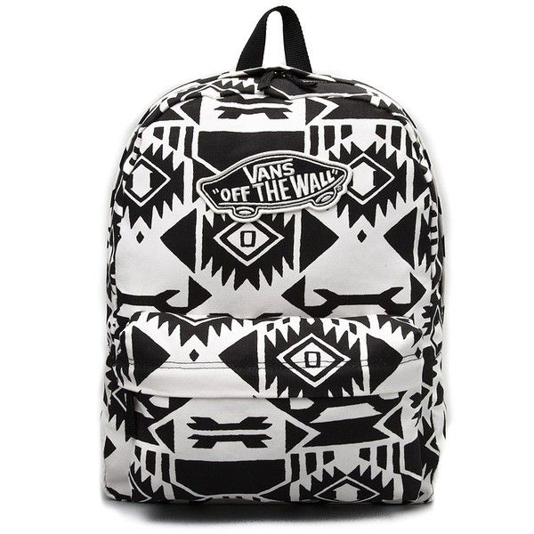 Vans Realm Tribal Backpack ❤ liked on Polyvore featuring bags, backpacks, vans backpack, tribal backpack, knapsack bags, tribal bag and day pack backpack