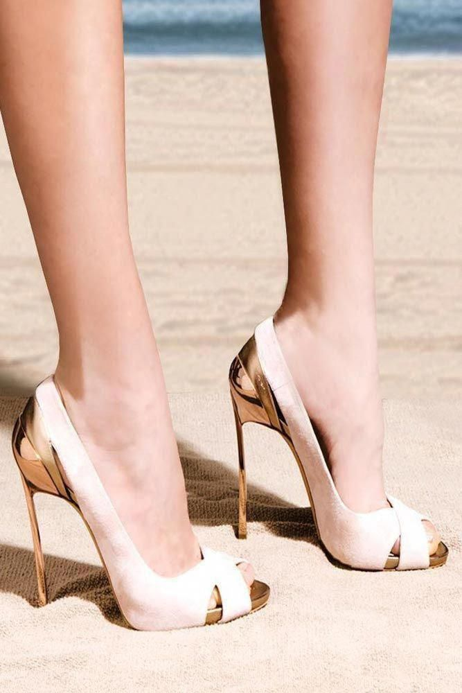 be65bc2a1b Gold And Nude High Heels  nudeheels What homecoming shoes are trendy  Heels  or sandals  Simple or sophisticated  And colors vary  maroon