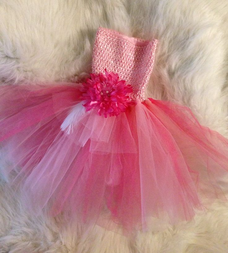 Tutu and flower clip I made for a 2yr old photo shoot today...