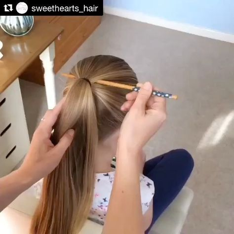 Can't get over some of these hairstyles! Here's one you can try out! Oh if only we could do this!  #Repost @sweethearts_hair (@get_repost) ・・・ The Chopstick Birdcage Braid  FULL  on my YouTube channel 'Sweethearts Hair Design'  #sweetheartshairdesign #peinadosvideos #wakeupandmakeup #hudabeauty #solopeinados #modernsalon #toddlerhairstyles #toddlerhairstyleideas #plaits #parenting #parentlife #parentingblog