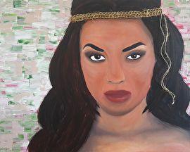 Schilderij Indiaanse Vrouw