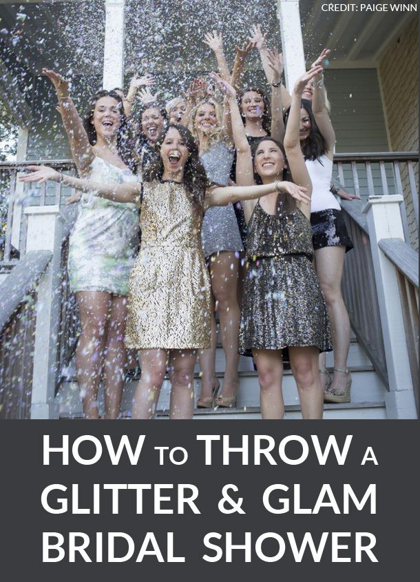 How to throw a #glitter & #glam #bridalshower | SouthBound Bride | http://www.southboundbride.com/hen-party-theme-glitter-glam | Credit: Paige Winn via Ultimate Bridesmaid
