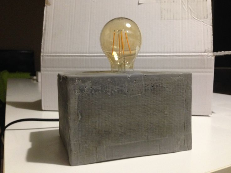 Concrete Edison Lamp diy