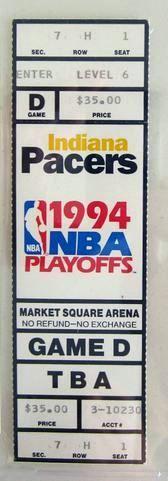 1994 NBA Playoffs Gm 6 Hawks at Pacers ticket stub