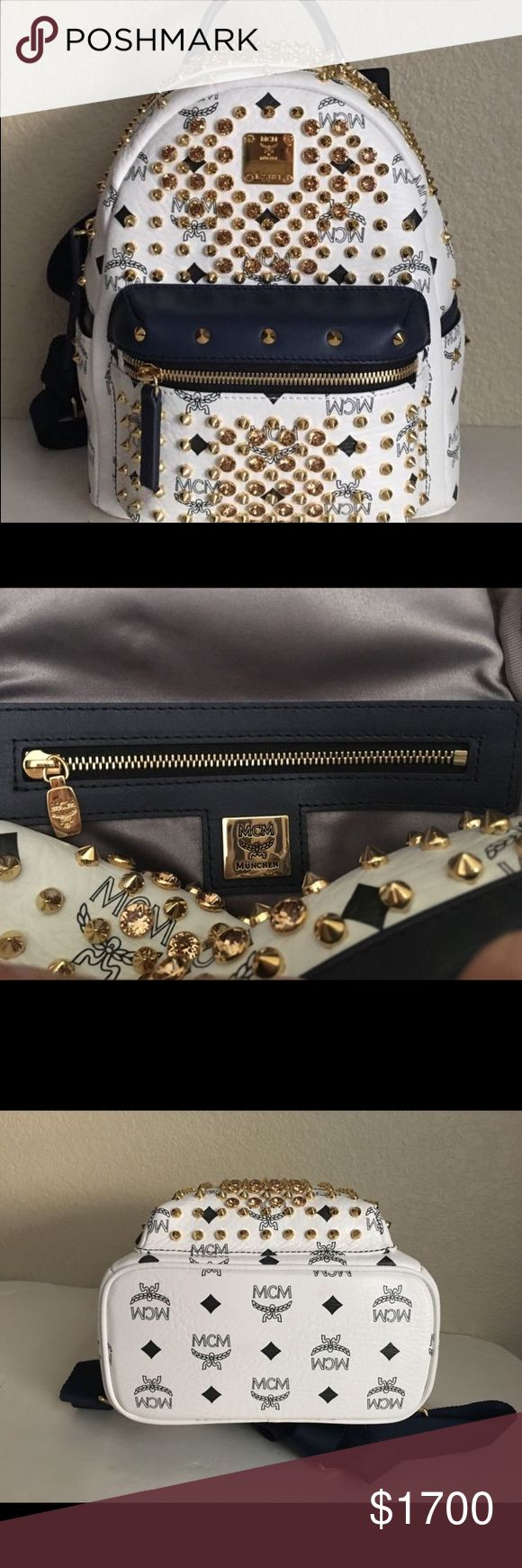 MCM Special Mini Stark Swarovski Studded Backpack Brand New 100% Authentic MCM Special Mini Stark Swarovski Studded Backpack MCM Bags Backpacks