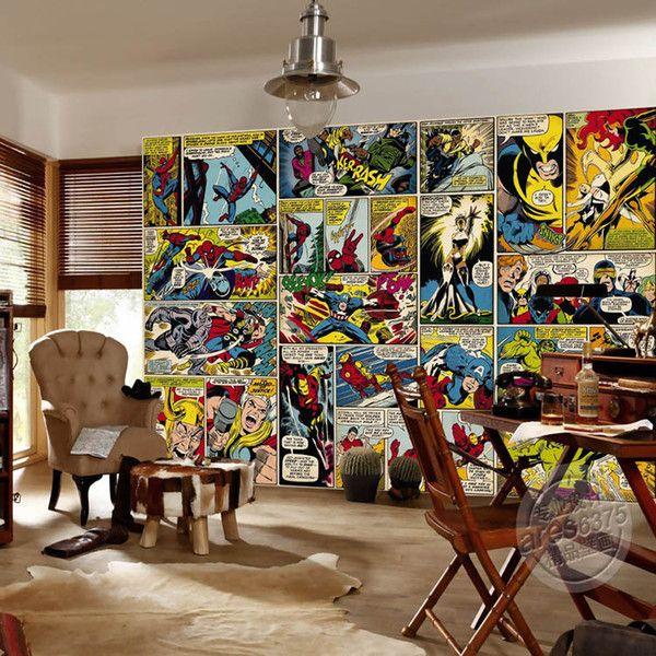 Marvel Comics Wallpaper Custom 3D Wall Murals Captain America Hulk Photo Wallpaper Kids Boys Bedroom Office Shop Art Room Decor Super Hero Background Wallpaper Wallpapers Downloads From Fashion_in_the_box, $23.22  DHgate.Com