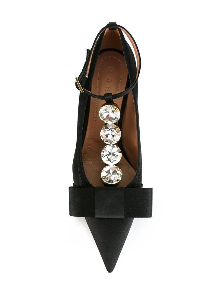 Marni атласные туфли с заостренным носком