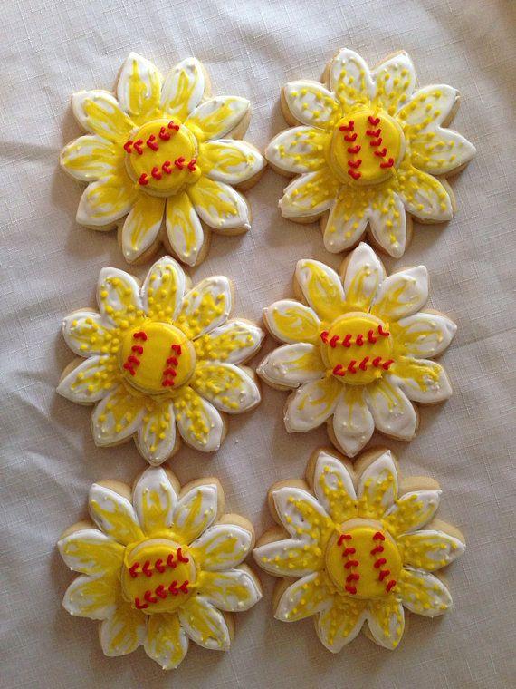 1 dozen softball/baseball sunflowers on Etsy, $39.00