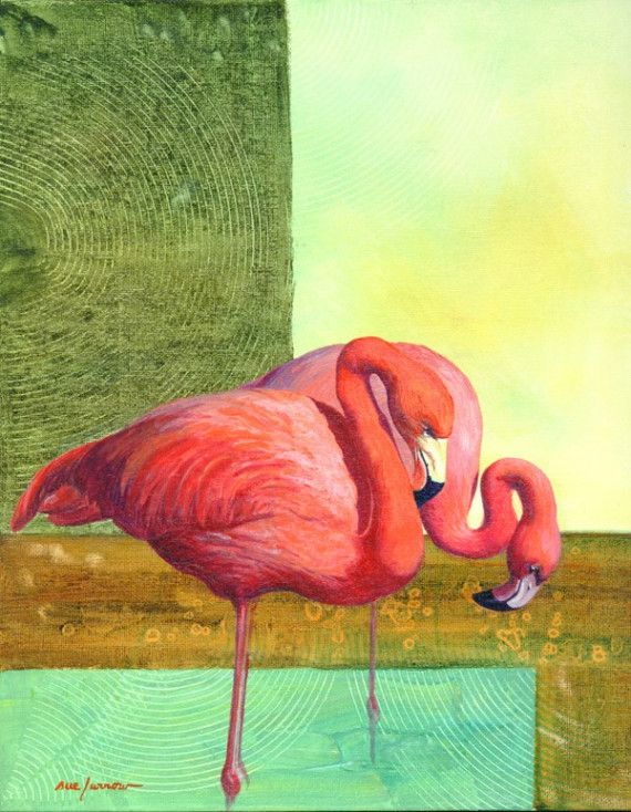 Flamingo Couple by suefurrow