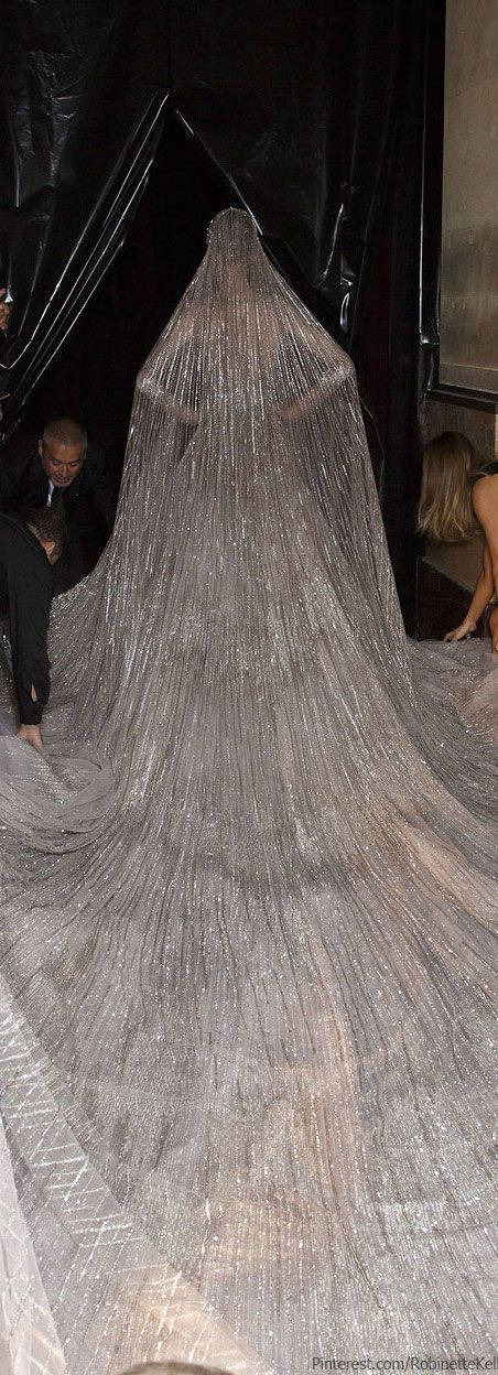 Elie Saab Haute Couture | F/W 2013 -the guy in the back, I think he's the designer. Woooow, the veil