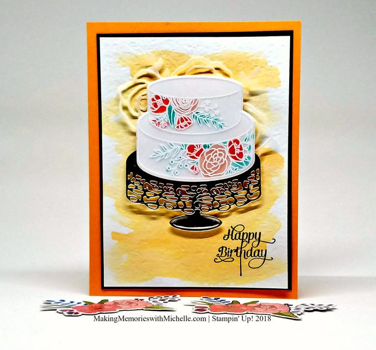 Cake Soiree - one of my favorite bundles in the 2018 Occasions Catalog!    Making Memories with Michelle    Stampin' Up! 2018