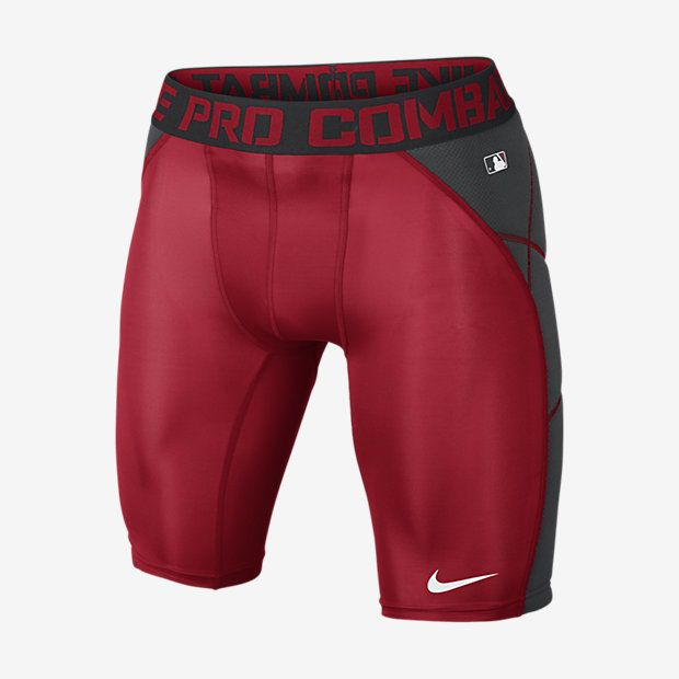ULTRA-LIGHT SLIDING PROTECTION The Nike Pro Hyperstrong Heist Slider 1.5 - Compression Men's Baseball Shorts are made with a lightweight, sweat-wicking fabric blend to help keep you comfortable on the field. Full back padding protects against impacts when sliding. Benefits Dri-FIT fabric helps keep you dry and comfortable Padded panels at back for protection against impacts Flat seams move smoothly across your skin Stretch waist and compression fit for a locked-in feel Cup pocket with woven…