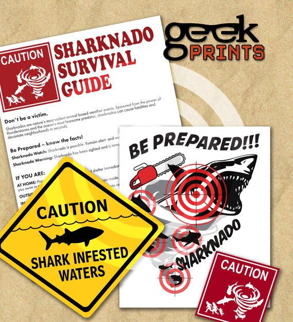 Sharknado & Jaws Printable Signs