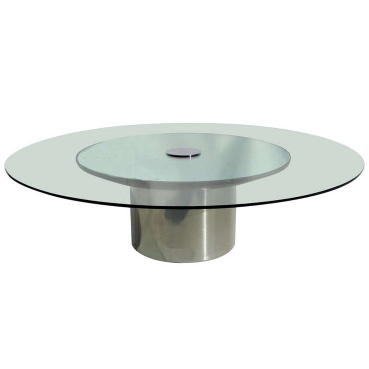 Polished Metal, Glass And Mirror Coffee Table By Pace | From A Unique  Collection Of