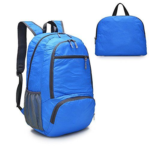 Abonnyc Ultra Lightweight Packable Backpack Hiking Daypack Handy Foldable Camping Outdoor Backpack  Blue -- Click image for more details.Note:It is affiliate link to Amazon.