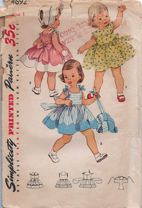 VERY+RARE+1950s+vintage+pattern+Simplicity+4692+size+by+GreatScott,+$4.99