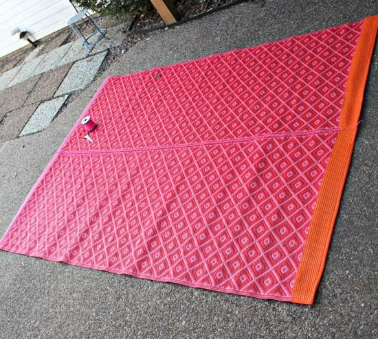 Sew Together Two Runners With Plastic Cords Or Lacing In A Coordinating  Color. Youu0027ll Get More Floor Covering, And The Lacing Is Suitable For  Outdoor Use.