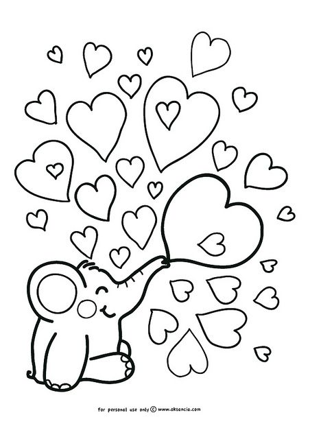 Love – Weekly free coloring page by OksanciaFree coloring page number 5 with adventures of Rondy the Elephant! by Oksancia, via Flickr