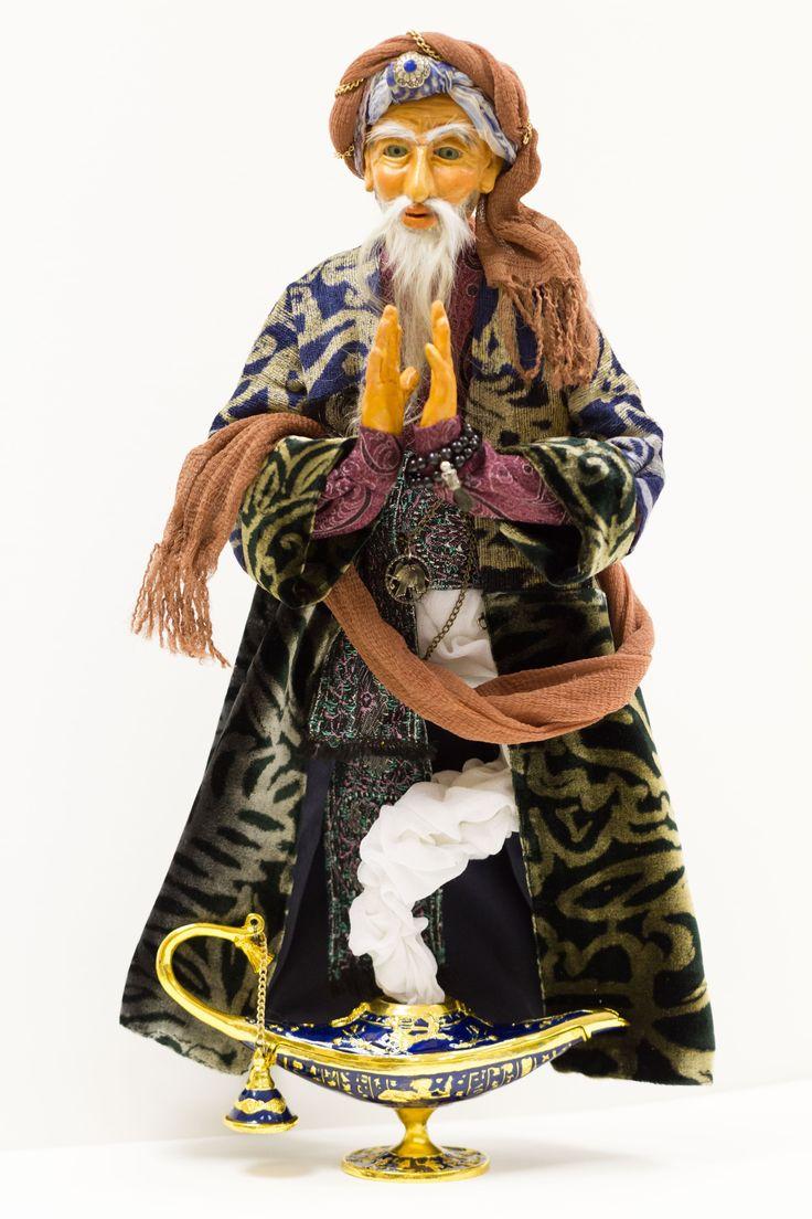 Персональный джинн. Авторская кукла из полимерной пластики 45 см в частной коллекции.