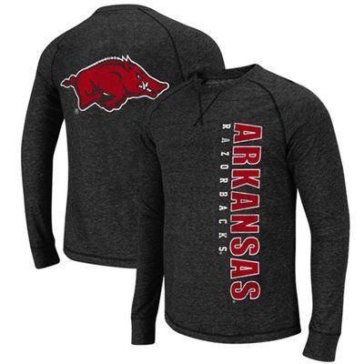Arkansas Razorbacks Lumberjack Premium Tri-Blend Long Sleeve T-Shirt - Black