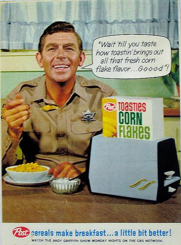 I refuse to trust any man with a creepy forced smile and a fake law enforcement badge, especially when it comes to critical matters like the crispiness of my corn flakes.